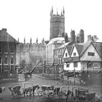 Picture of Worcs - Worcester and Cab Rank c1890s - N742
