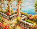 Picture of Seaside - Mediterranean Balcony View - O050
